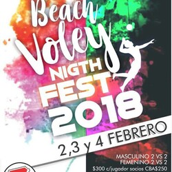 Beach Voley Night Fest 2018